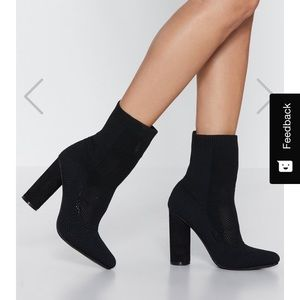 Nasty Gal Out of Touch sock booties